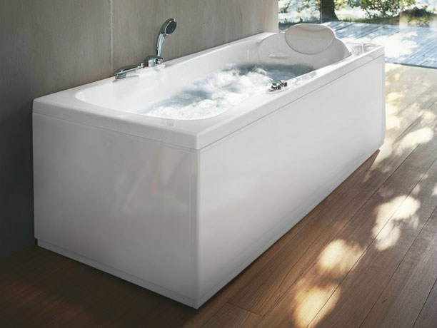 Whirlpool rectangular bathtub HEXIS by Jacuzzi