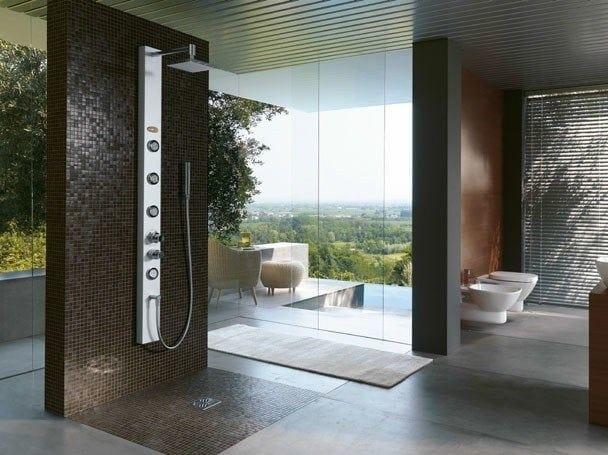 Colonna doccia con idromassaggio con soffione es by jacuzzi