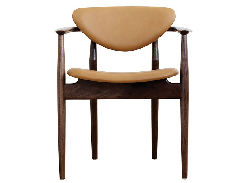 Upholstered leather chair with armrests 109 | Chair by Onecollection