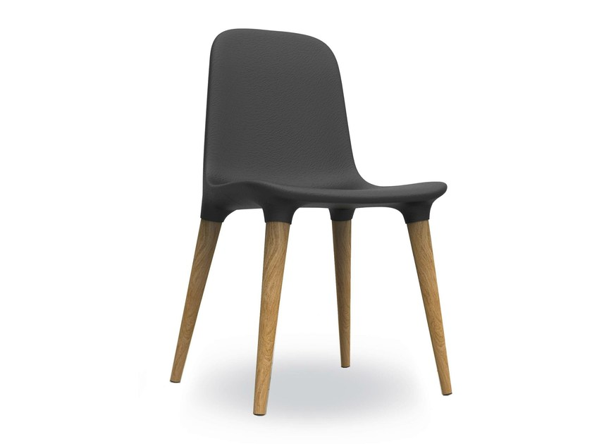 Upholstered leather chair TAKO 451 | Upholstered chair by Tonon