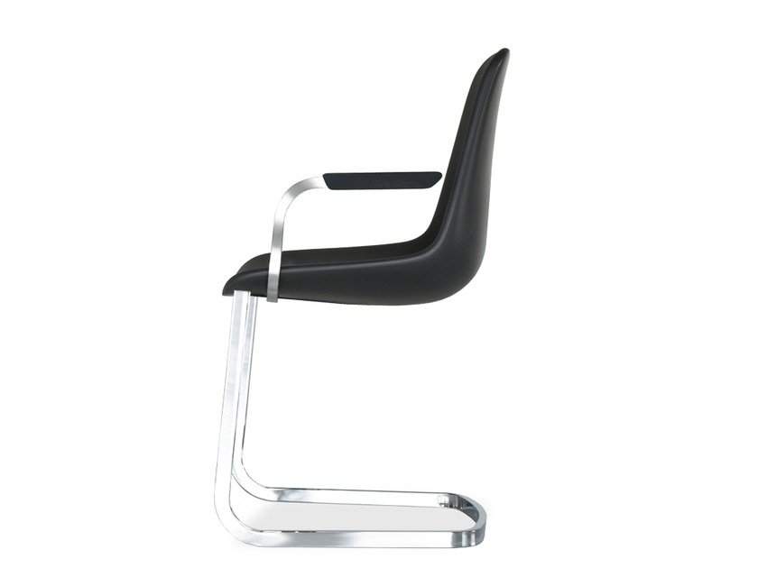 Cantilever chair with armrests STEP | Chair with armrests by Tonon