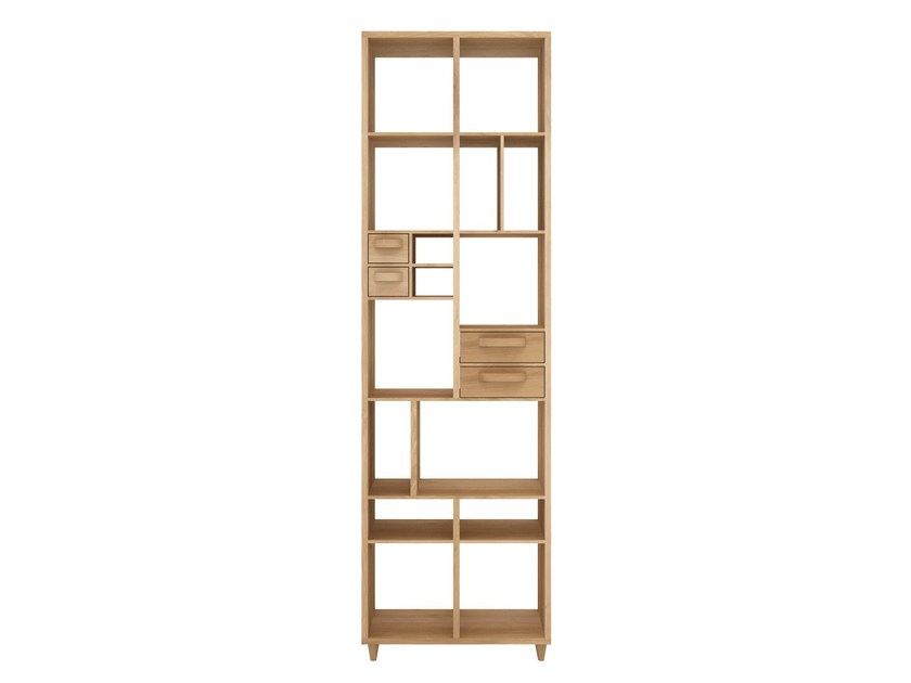 Open solid wood bookcase PIROUETTE | Bookcase by Ethnicraft