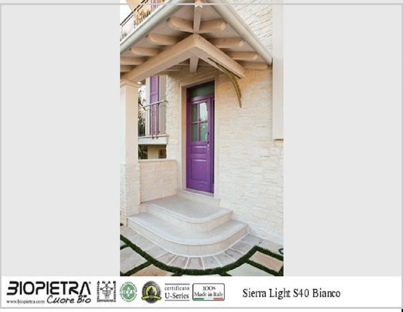Artificial stone finish SIERRA LIGHT by BIOPIETRA®