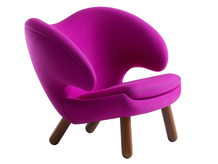 Upholstered fabric easy chair with armrests PELICAN | Easy chair by Onecollection