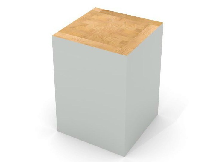 Low spruce stool BLOCK STOOL by Universo Positivo