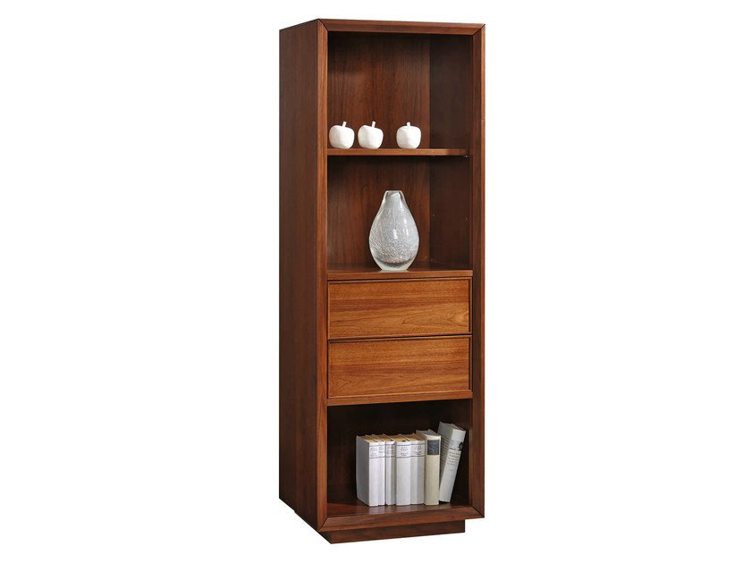Wooden bookcase with drawers LEONARDO | Bookcase by SELVA