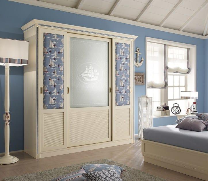 Sectional wardrobe with sliding doors CORDAGE | Wardrobe by Caroti