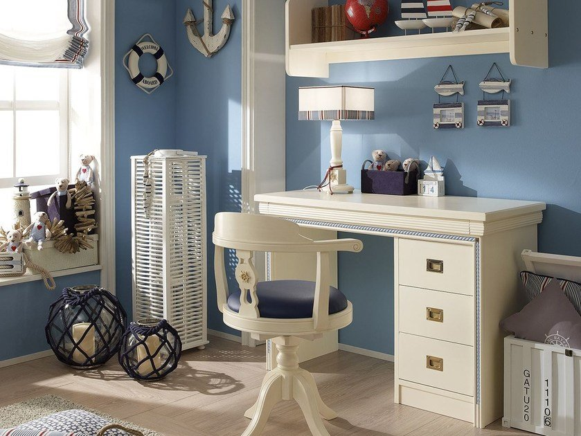Lacquered Kids writing desk with drawers CORDAGE | Kids writing desk by Caroti