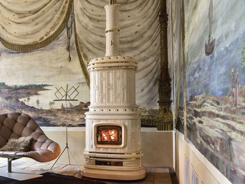 Stufa a legna in ceramica ad accumulo VIENNESE L/A - Sergio Leoni