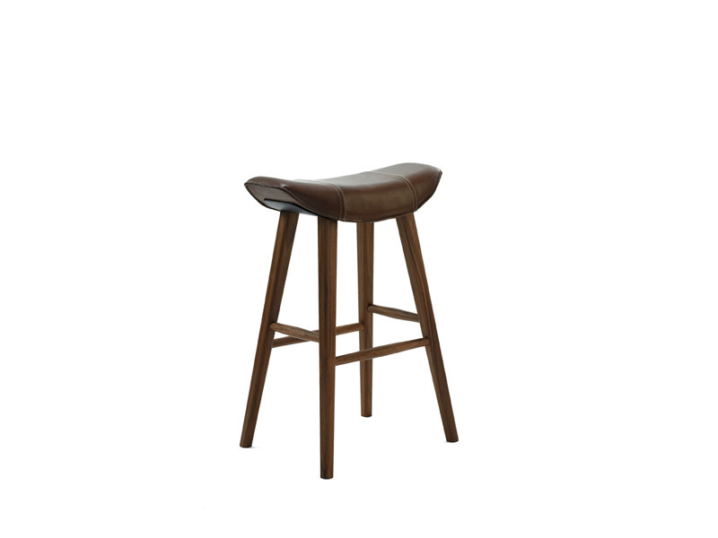 Upholstered leather stool KYA KITCHEN STOOL by Freifrau