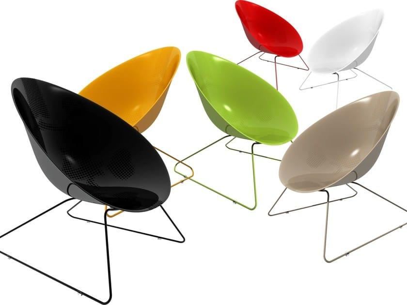 Sled base garden armchair ADAM by Marzais Créations