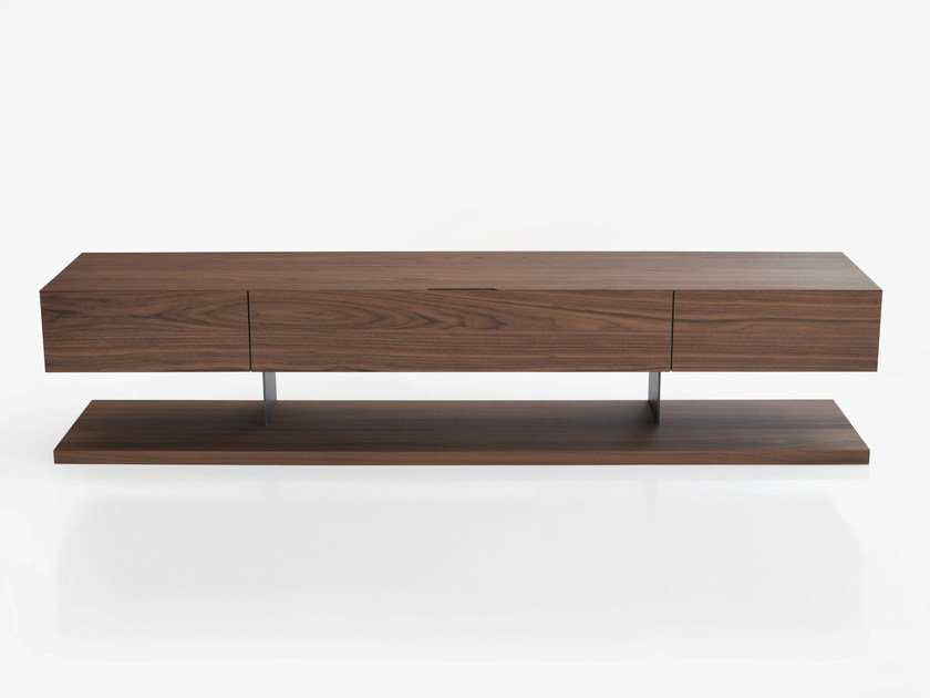 Low wooden TV cabinet STANDARD | Wooden TV cabinet by BENSEN