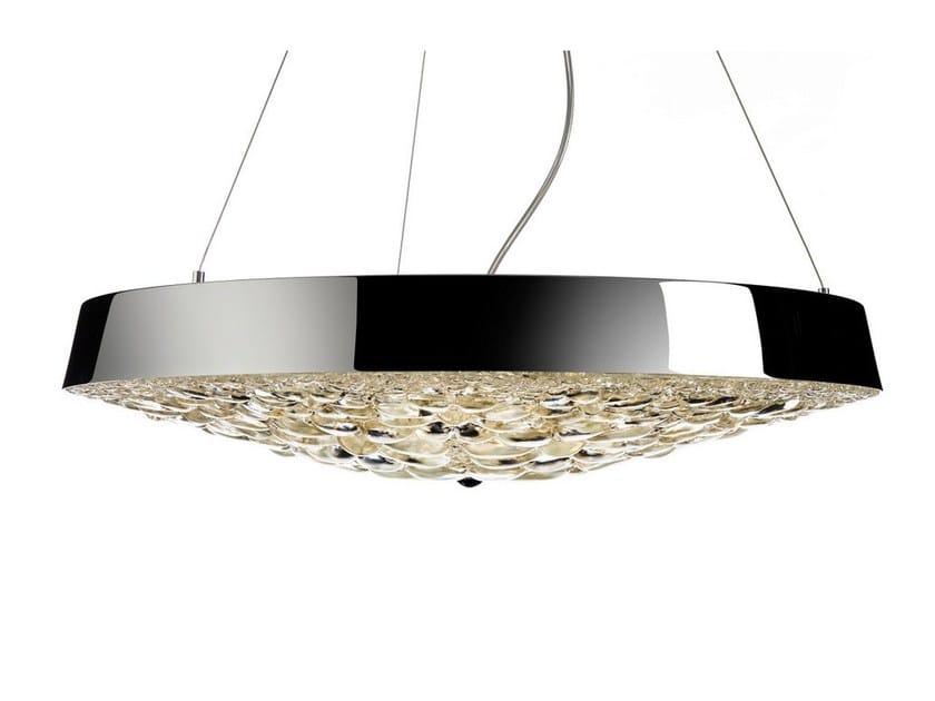 LED direct light crystal pendant lamp VALENTINE FLAT by moooi