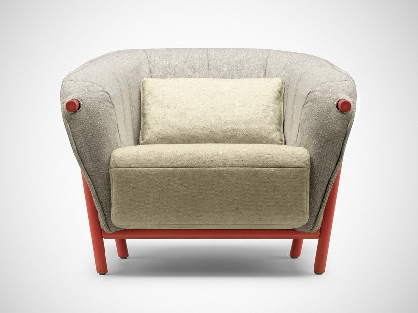 Contemporary style upholstered fabric armchair with armrests YAS | Armchair by Bosc