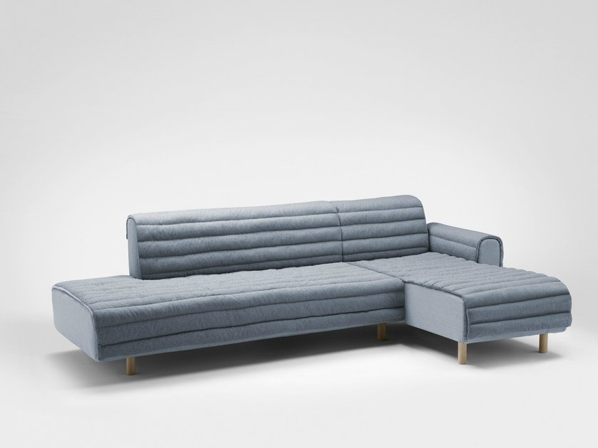 Corner fabric sofa with chaise longue KOUET | Corner sofa by Bosc