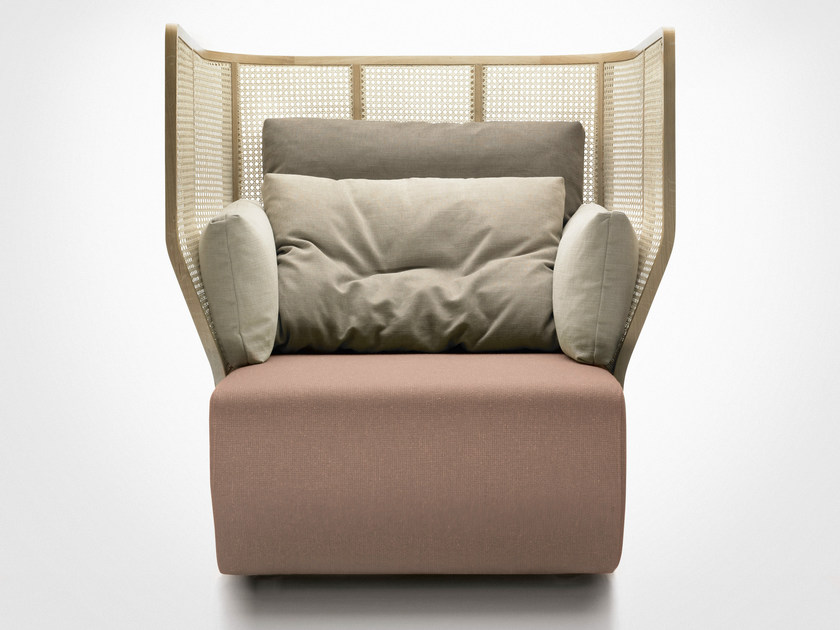 Upholstered high-back lobby chair XISTERA | High-back armchair by Bosc
