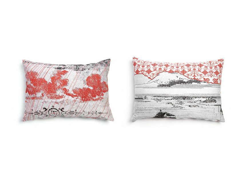Rectangular fabric sofa cushion OIL 3 by moooi