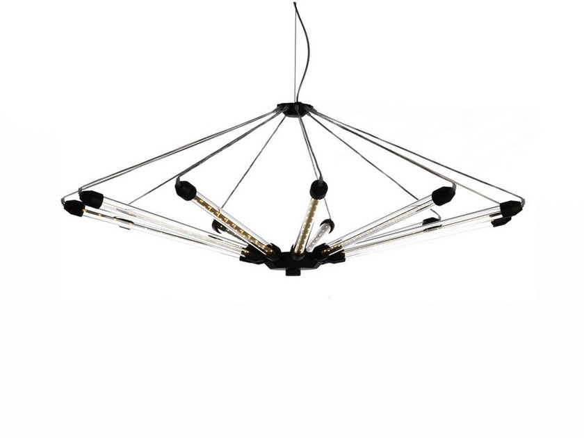 LED direct-indirect light aluminium pendant lamp KROON 11 by moooi