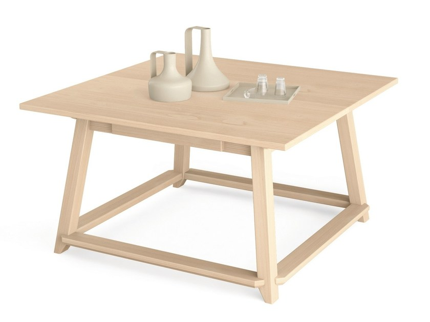 Square wooden table MAESTRALE | Square table by Scandola Mobili