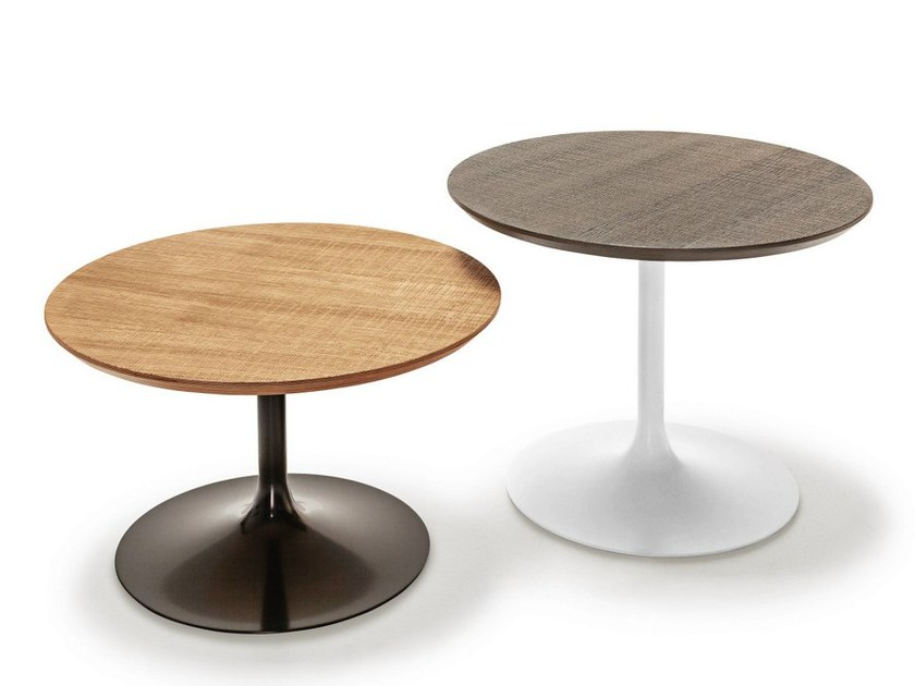 Round wooden coffee table FLÛTE WOOD | Coffee table by Sovet italia