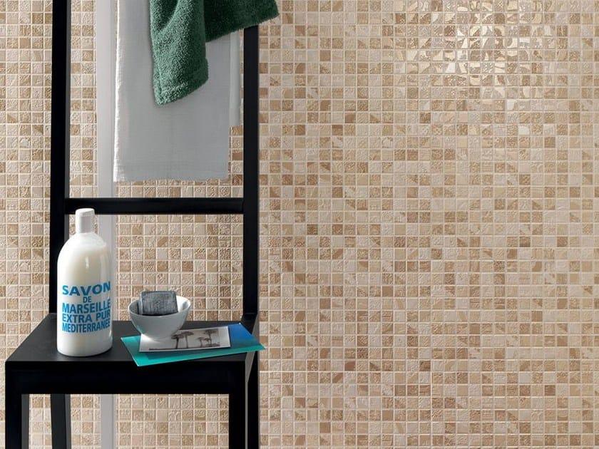 White-paste mosaic EMPREINTE Ekrù by Impronta Ceramiche