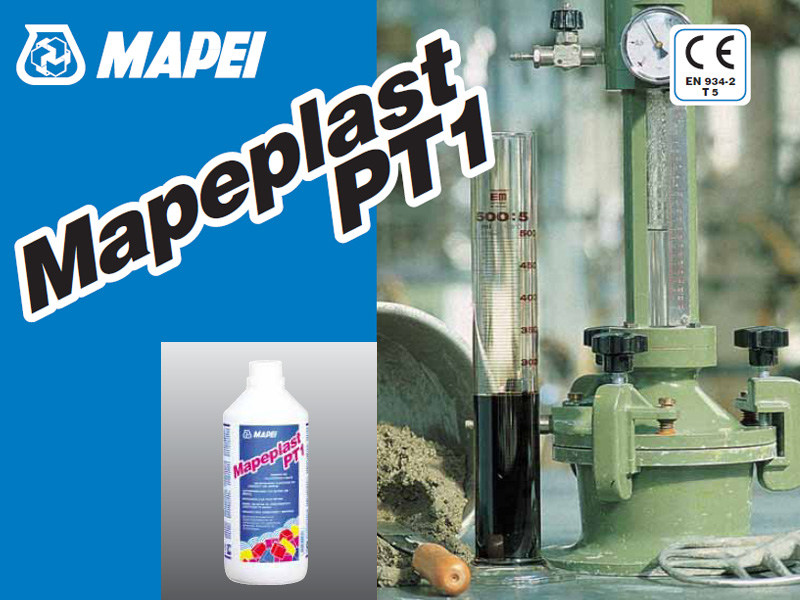 Additive for cement and concrete MAPEPLAST PT1 by MAPEI