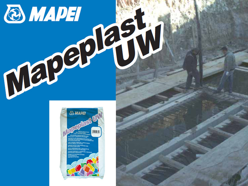 Additive for cement and concrete MAPEPLAST UW by MAPEI