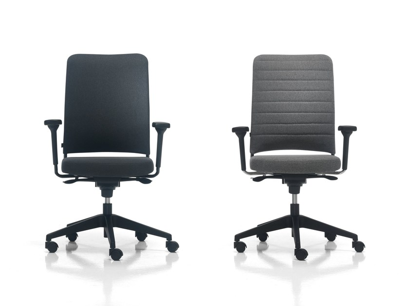 Swivel task chair with armrests ONE by Inclass Mobles
