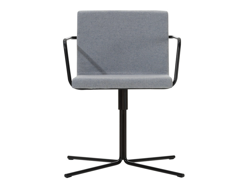 Upholstered chair with 4-spoke base with armrests ALINE | Chair with 4-spoke base by Inclass Mobles