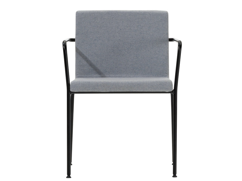 Upholstered chair with armrests ALINE | Chair by Inclass Mobles