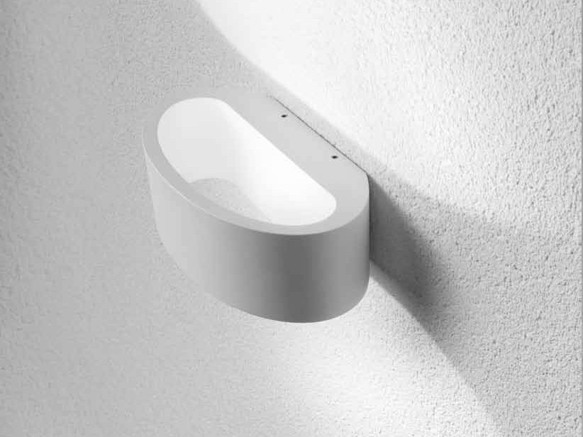 LED indirect light aluminium wall light WADI by Lucente