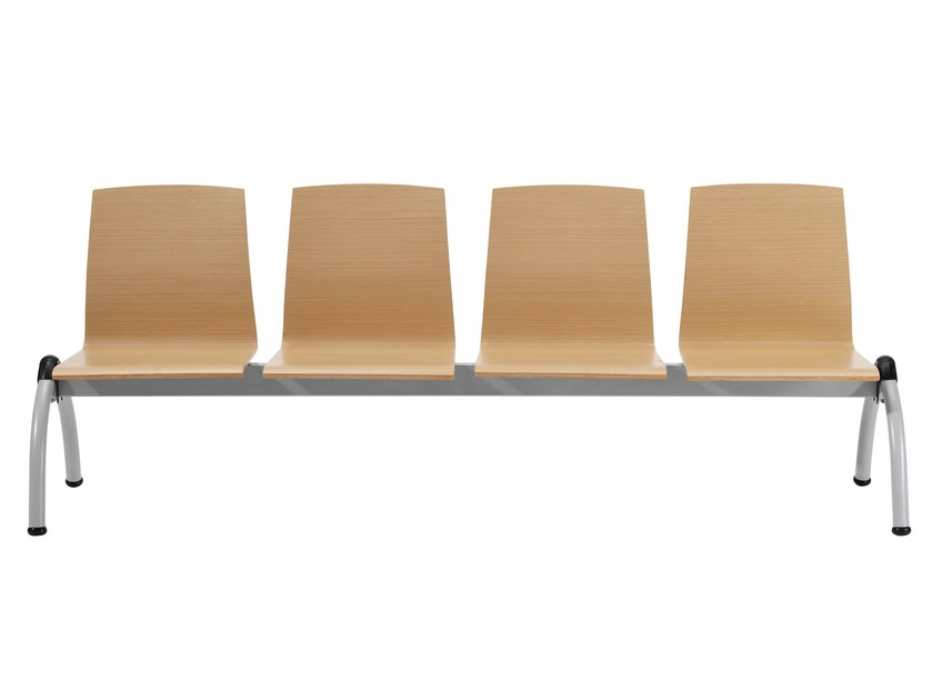 Wooden bench seating with back GINGER | Bench seating by Inclass Mobles