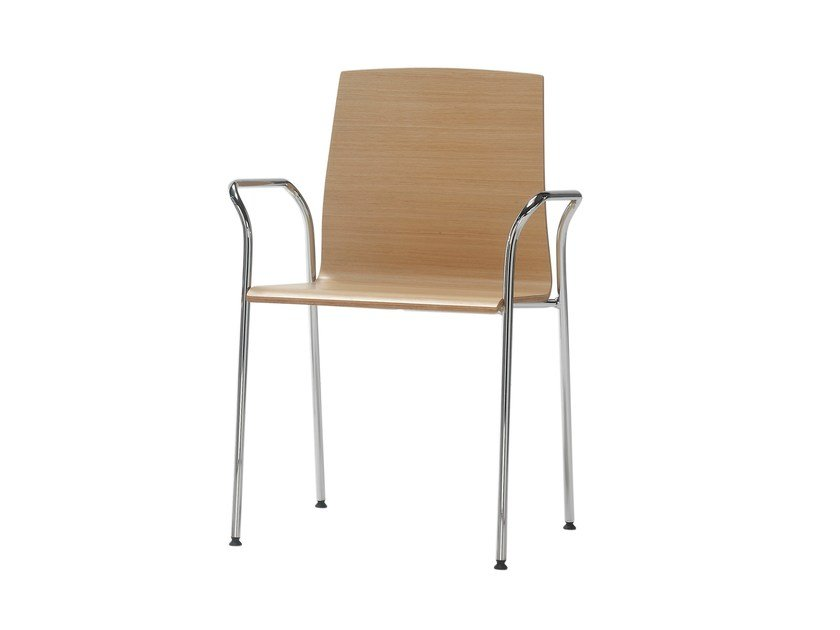 Wooden chair with armrests GINGER | Chair by Inclass Mobles