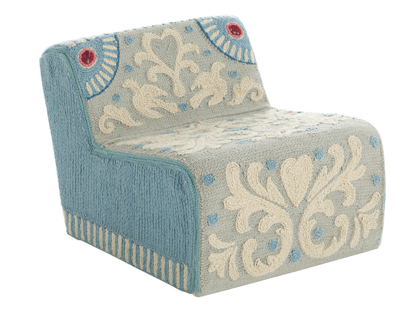 Upholstered wool armchair GOYESCAS | Armchair by GAN