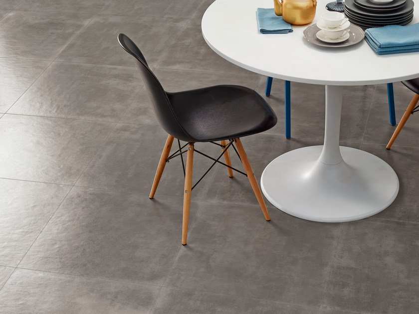 Glazed stoneware flooring with concrete effect GROUND | Flooring by Love Tiles