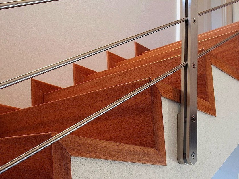 Solid wood staircase cladding Staircase cladding by MENOTTI SPECCHIA