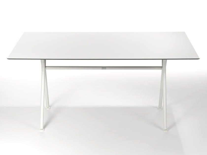 Rectangular aluminium garden table LODGE | Rectangular table by FISCHER MÖBEL