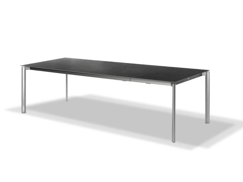 Extending rectangular garden table SWING | Extending table by FISCHER MÖBEL