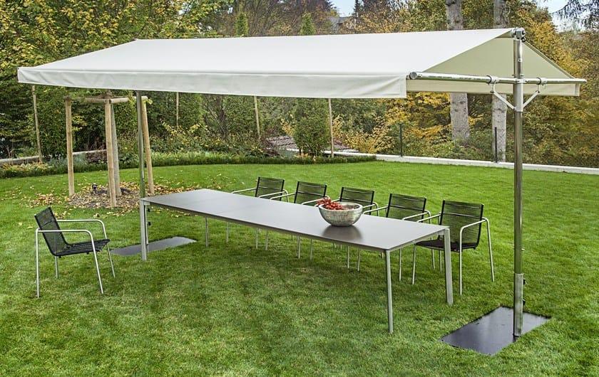 Rectangular aluminium Garden umbrella PIUMA | Aluminium Garden umbrella by FISCHER MÖBEL