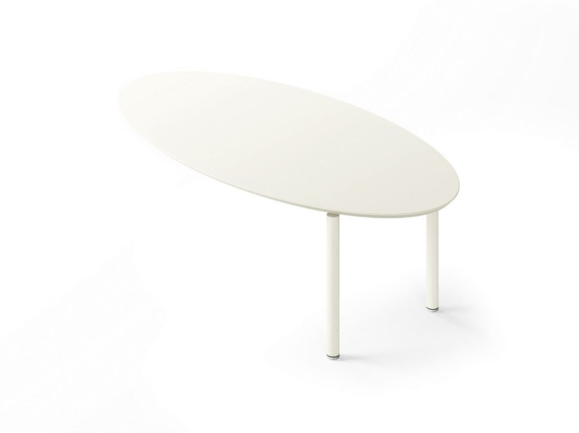 Wall-mounted lacquered oval office desk MÈTA | Oval office desk by FANTONI
