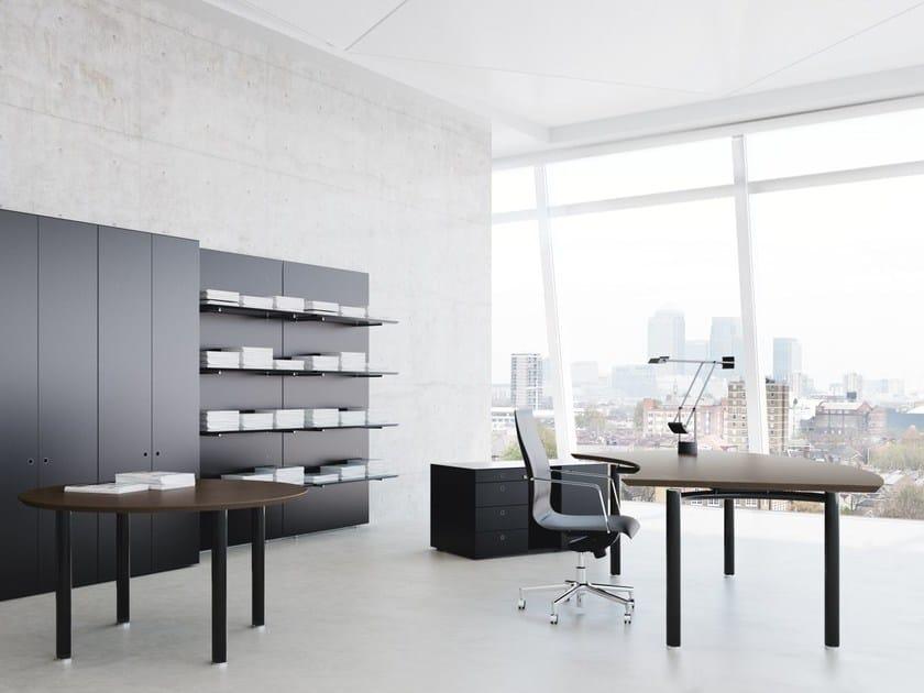 Wooden workstation desk MÈTA | Wooden office desk by FANTONI