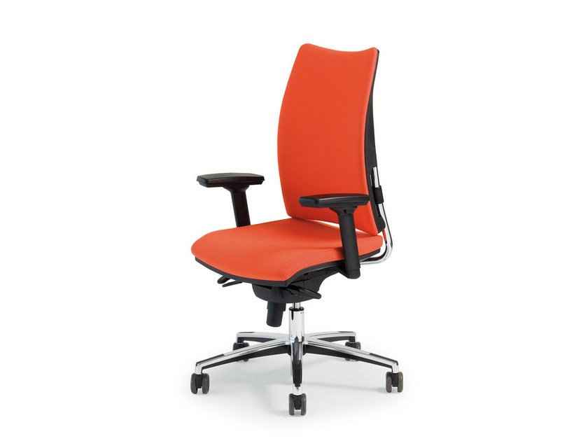 Swivel fabric task chair with armrests THYME OPERATIVE | Fabric task chair by FANTONI