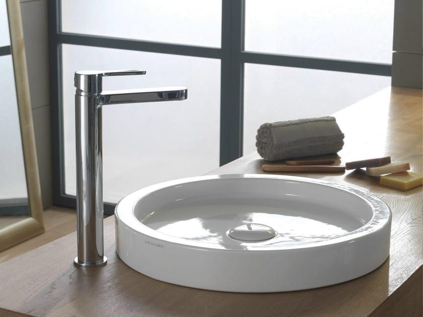 Countertop round ceramic washbasin BUCKET | Countertop washbasin by Scarabeo Ceramiche