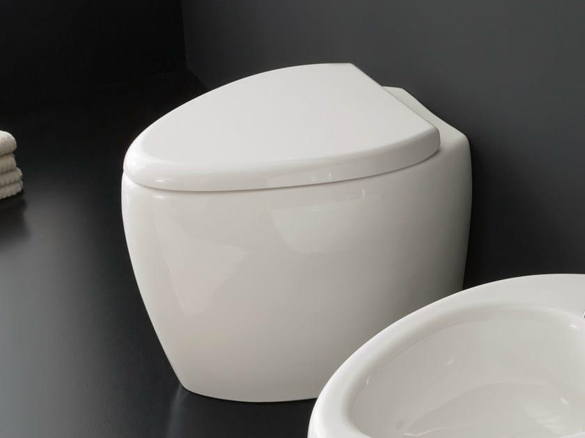 Ceramic toilet MOAI | Toilet by Scarabeo Ceramiche