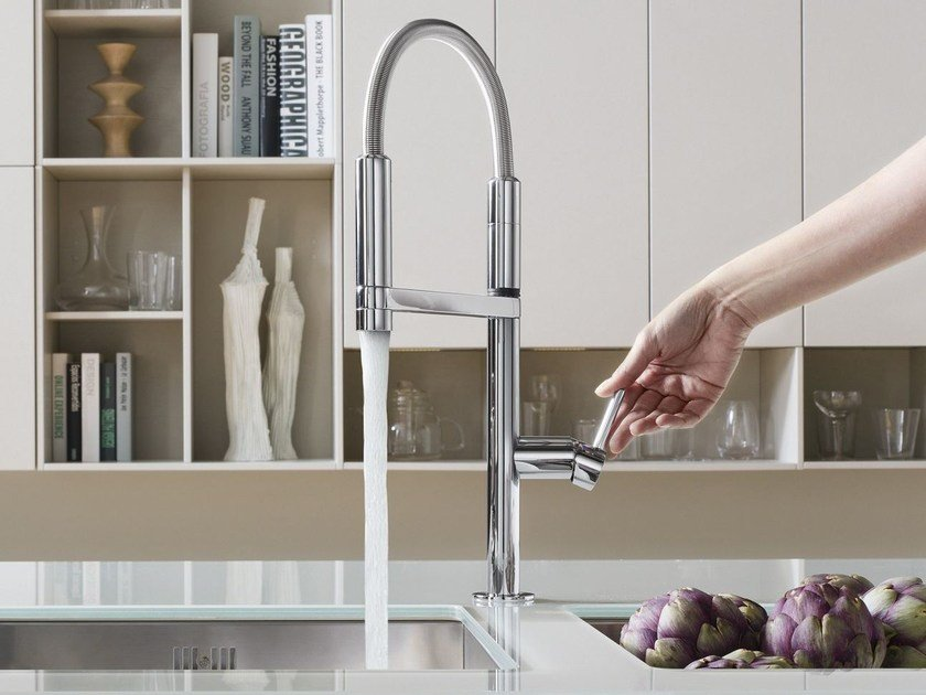 Professional kitchen mixer tap with pull out spray MOVE | Professional kitchen mixer tap by Nobili Rubinetterie