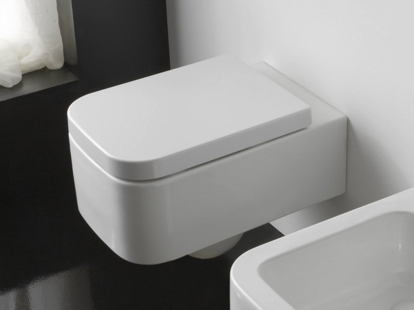 Wall-hung ceramic toilet NEXT | Wall-hung toilet by Scarabeo Ceramiche