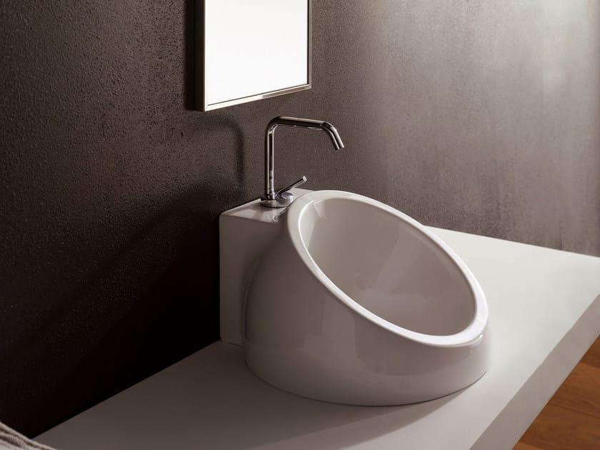 Inset ceramic washbasin PLANET   Inset washbasin by Scarabeo Ceramiche