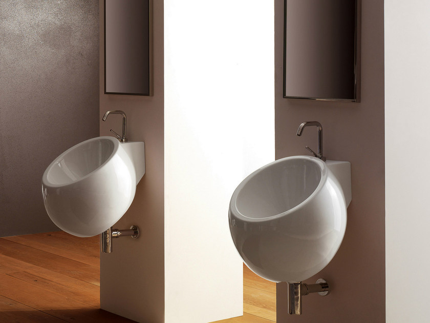 Wall-mounted ceramic washbasin PLANET | Wall-mounted washbasin by Scarabeo Ceramiche