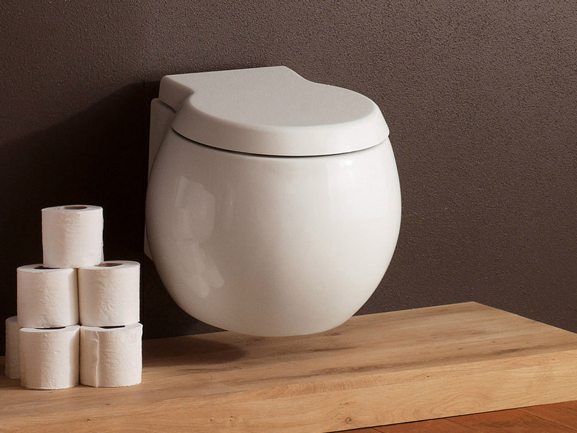 Wall-hung ceramic toilet PLANET | Wall-hung toilet by Scarabeo Ceramiche