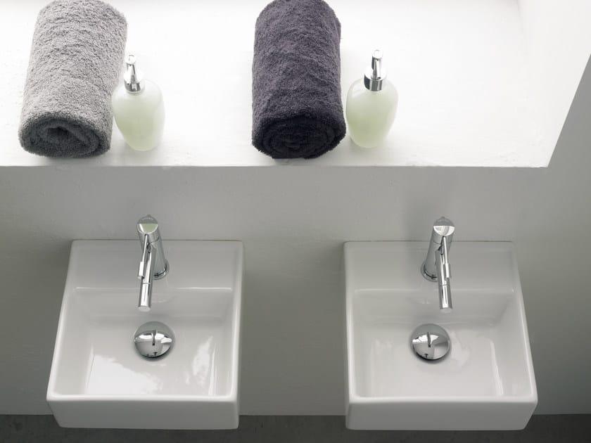 Wall-mounted ceramic washbasin TEOREMA 30R by Scarabeo Ceramiche
